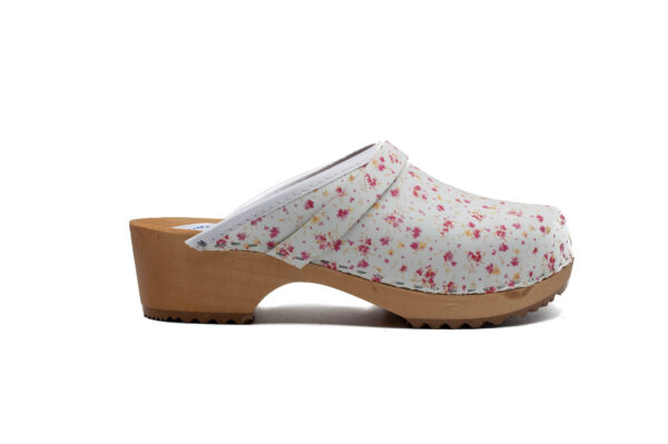 Handmade Clogs - Square Sole Flowers