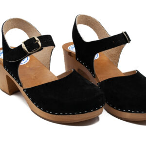 Handmade Sandals High Heel - Black Suede