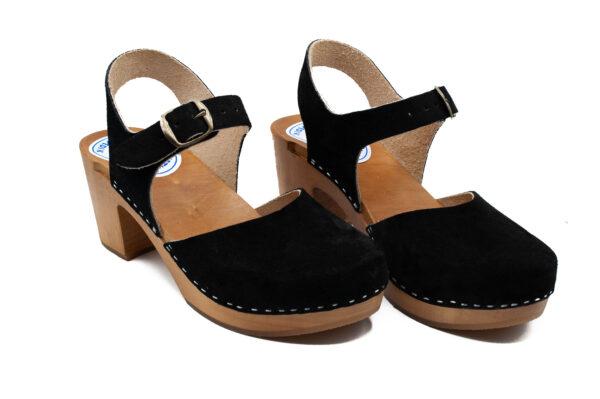 Handmade Sandals High Heel - Black Suede