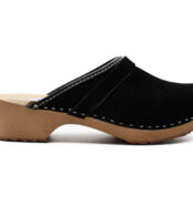 Handmade Clogs - Black Suede
