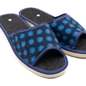 Slippers - Blue Felt