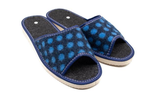 Slippers - Blue Felt