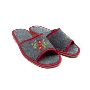 Slippers - Grey Open